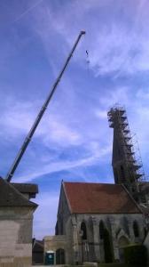 Travaux sur le clocher de l'église