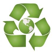 Go green recycle logo