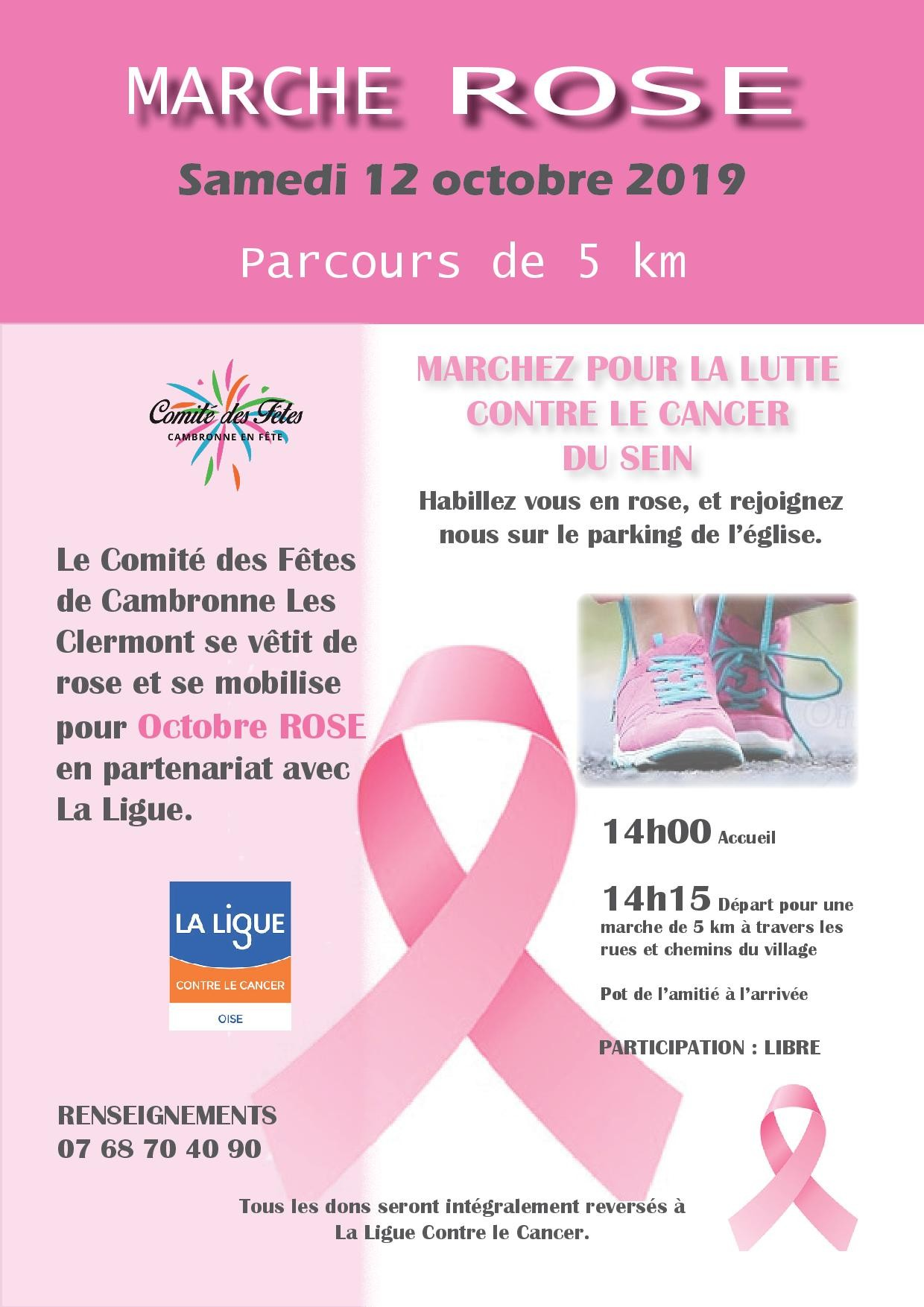 Octobre rose 2019 affiche libre participation